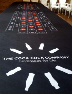 Corporate Casino Table Photo with Coca-Cola Logo